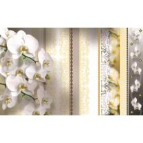 Fotobehang Papier Bloemen, Orchideeën | Geel | 254x184cm