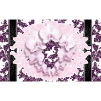 Fotobehang Papier Bloemen, Orchideeën | Paars | 254x184cm