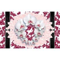 Fotobehang Papier Bloemen, Orchideeën | Wit | 368x254cm