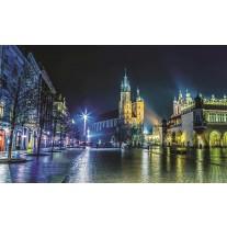 Fotobehang Papier Stad | Grijs, Groen | 254x184cm