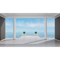 Fotobehang Papier Zee | Blauw, Grijs | 254x184cm