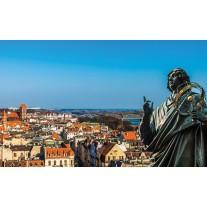 Fotobehang Papier Stad | Blauw | 368x254cm