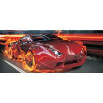 Fotobehang Auto | Rood, Oranje | 250x104cm