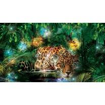 Fotobehang Papier Jungle | Groen, Bruin | 368x254cm