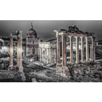 Fotobehang Papier Rome, Stad | Grijs | 254x184cm