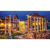 Fotobehang Papier Rome, Stad | Geel | 368x254cm