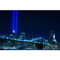 Fotobehang Papier New York | Blauw | 254x184cm