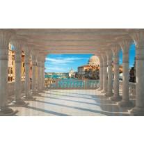 Fotobehang Papier Stad, Venetië | Blauw | 368x254cm