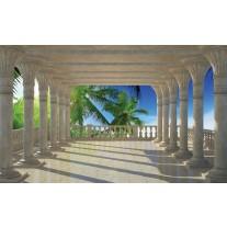 Fotobehang Papier Natuur | Blauw | 254x184cm