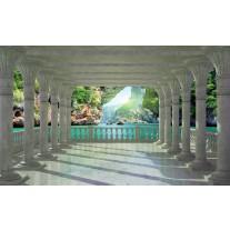 Fotobehang Papier Natuur | Groen, Blauw | 368x254cm