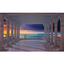 Fotobehang Papier Zee | Blauw | 254x184cm