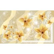 Fotobehang Papier Bloemen | Geel | 368x254cm