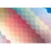 Fotobehang Papier Abstract | Geel, Rood | 254x184cm