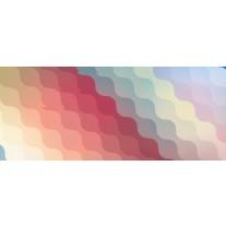 Fotobehang Abstract | Geel, Rood | 250x104cm