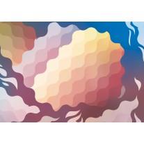 Fotobehang Papier Abstract | Geel, Blauw | 368x254cm