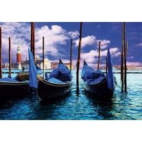 Fotobehang Papier Venetië, Stad | Blauw, Groen | 254x184cm