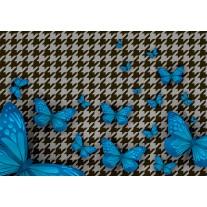 Fotobehang Vlinder | Blauw, Grijs | 152,5x104cm