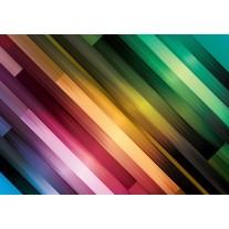 Fotobehang Papier Abstract | Groen, Paars | 254x184cm