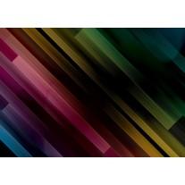 Fotobehang Papier Abstract | Zwart, Groen | 254x184cm