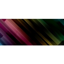 Fotobehang Abstract | Zwart, Groen | 250x104cm