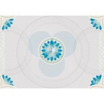 Fotobehang Papier Abstract | Grijs, Blauw | 254x184cm