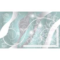 Fotobehang Papier Bloemen | Grijs, Groen | 368x254cm