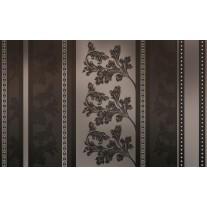 Fotobehang Papier Bloemen | Zwart, Grijs | 254x184cm
