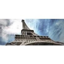 Fotobehang Eiffeltoren | Grijs, Blauw | 250x104cm