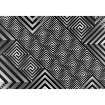 Fotobehang Papier Abstract | Grijs, Zwart | 368x254cm