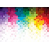 Fotobehang Papier Abstract | Roze, Geel | 254x184cm