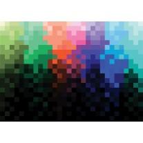 Fotobehang Papier Abstract | Zwart, Blauw | 254x184cm