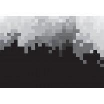 Fotobehang Abstract | Zwart, Grijs | 152,5x104cm
