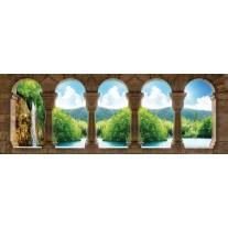 Fotobehang Vlies Natuur | Blauw, Groen | GROOT 832x254cm