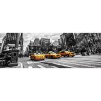 Fotobehang Vlies New York | Geel, Zwart | GROOT 832x254cm