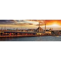 Fotobehang Vlies Stad   Oranje   GROOT 624x219cm