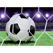 Fotobehang Papier Voetbal | Groen, Wit | 368x254cm