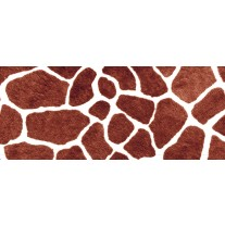 Fotobehang Giraffe | Bruin | 250x104cm