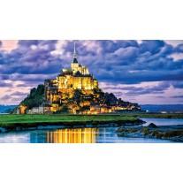 Fotobehang Papier Frankrijk | Blauw | 254x184cm