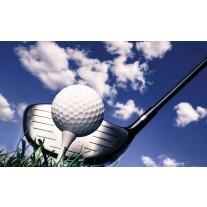 Fotobehang Papier Golf | Blauw, Wit | 254x184cm