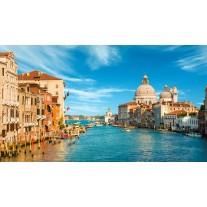 Fotobehang Papier Venetië | Blauw, Bruin | 254x184cm