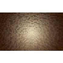 Fotobehang Papier 3D | Grijs, Bruin | 254x184cm