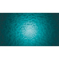 Fotobehang Papier 3D | Turquoise | 254x184cm