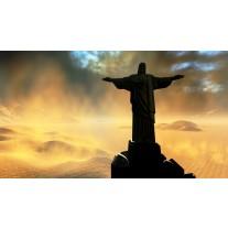Fotobehang Papier Jezus, Brazilië | Zwart | 368x254cm