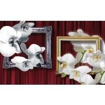 Fotobehang Papier Bloemen, Orchidee | Wit | 254x184cm