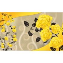 Fotobehang Papier Bloemen, Rozen | Geel | 254x184cm