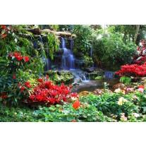 Fotobehang Papier Natuur | Groen, Rood | 254x184cm