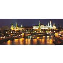 Fotobehang Moscow, Stad | Oranje | 250x104cm