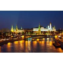 Fotobehang Papier Moscow, Stad | Oranje | 368x254cm