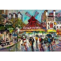 Fotobehang Moulin Rouge | Grijs | 152,5x104cm