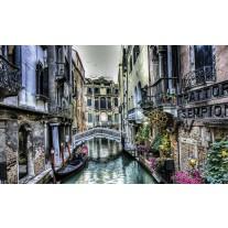 Fotobehang Papier Venetië | Grijs | 254x184cm